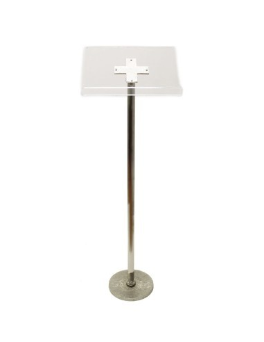 ATRIL DE PIE METAL PLATEADO 123 CM