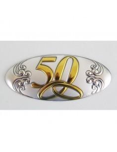 APLIQUE BILAMINADO PLATA DE LEY 50 65MM