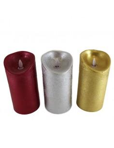 VELON CON LUZ LED PLASTICO CERA 9 x 9 x 12,50 cm
