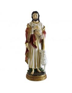 JESUS BUEN PASTOR 30 cm RESINA