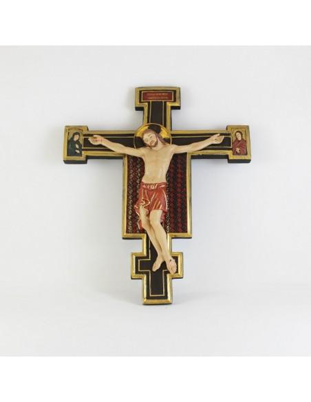Crucifijo en color granate Medida: 30 cm