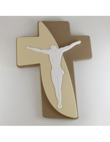CRUZ 3D CON JESUS 30X40