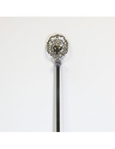 Báculo vara rayada Medida: 1,60 Ter. Corazon 7 puñal plata