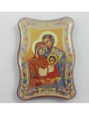 Iman icono Sagrada Familia, Medida: 4.50 cm de alto x 3.50 cm de ancho