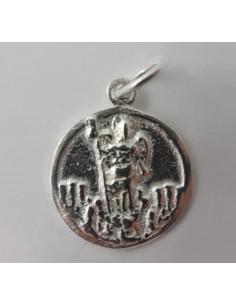 Medalla de plata de San Rafael  Disponible en 1,5 cm y 2 cm