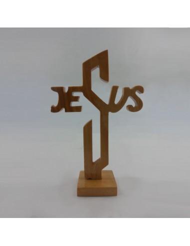 CRUZ JESUS PIE MADERA