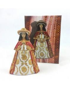 Virgen del rocio vestida de pastora, 15 cm, resina.