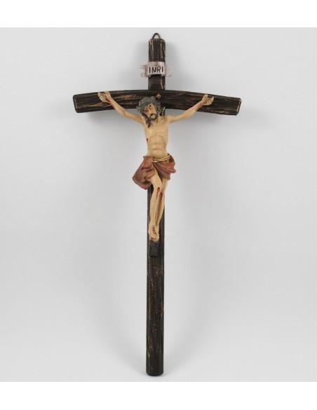 Crucifijo resina   Dimensiones  Cristo 17 cm Cruz  37 cm