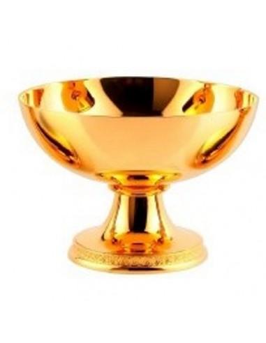 Copon patena dorado Altura: 9 cm Ancho: 13,5 cm