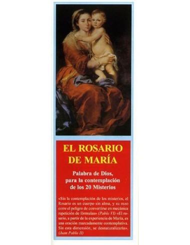 Tríptico para rezar el Rosario meditando los misterios a la luz de María.