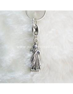 Llavero de metal con imagen de Jesús Misericordioso.  Medidas.  Largo total: 10,5 cm Largo Cristo: 6 cm Ancho Cristo: 2,5