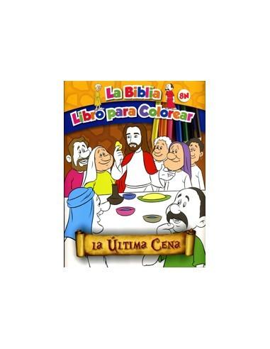 última Cena La La Biblia Libro Para Colorear