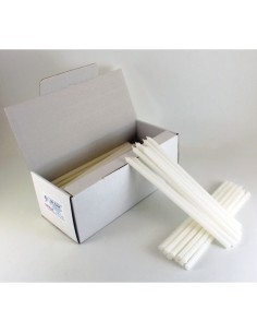 Caja de candelas de 100 piezas.  Medida: 0.8 x 23