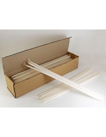 Candela antigoteo ideal para la Candelaria o Vigilia Pascual, no gotea aunque esté algo inclinada.  Dimensiones:  0.9 x 40
