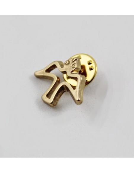 Pin Paloma dorada, 2 cm
