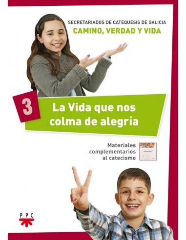 La serie 'Camino, Verdad y Vida', realizada por los Secretariados de Catequesis de Galicia, se compone de cuatro cuadernos del