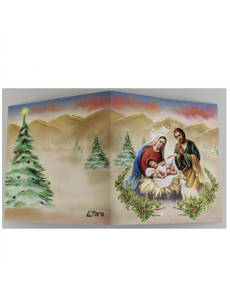 Caja con 8 felicitaciones con sobre de Navidad surtidas.