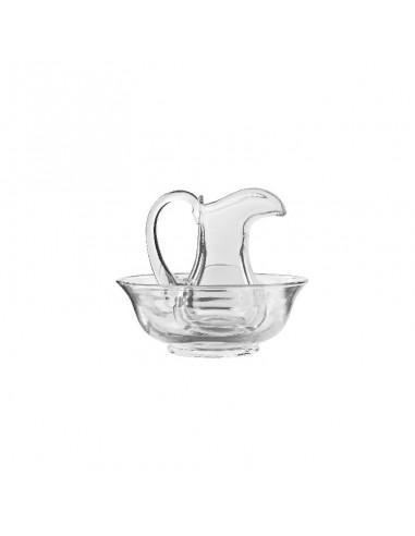 Lavamanos (Jarrita + Jofaina) disponible en dos tamaños:  Grande: Jofaina: 6 cm de alto y 14.50 cm de diámetro. Jarrita: 12