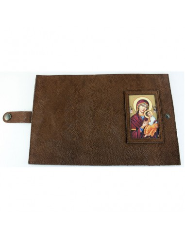 Funda para la Liturgia de las Horas  Disponible en marron con la imagen del Perpetuo Socorro y en negro con la imagen del Pant