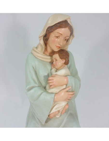 Virgen Malena, madera, policromada lisa, 60 cm