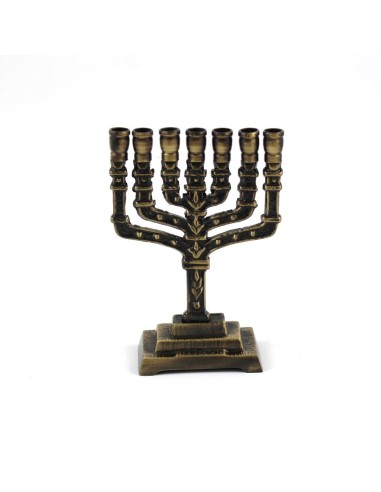Candelabro judio 14 cm  Para velas de 1 cm
