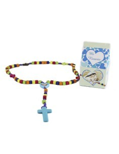 """Cajita """"Mi primer rosario"""" con rosario infantil de colores  Consultar disponibilidad"""
