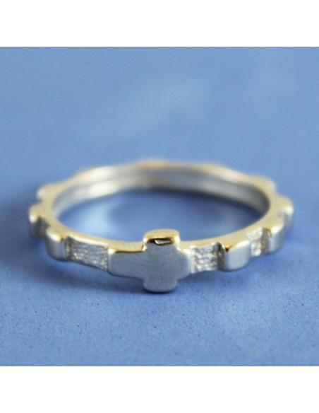 Anillo rosario de plata   Ultimas unidades en stock