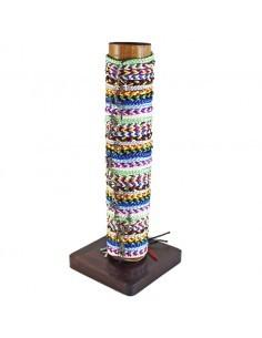 Pulsera con cordon de distintos colores y cruz plateada 12 colores distintos