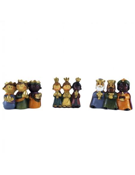 Reyes magos de 4 cm 3 modelos diferentes