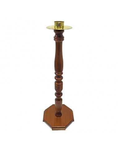 Portacirio de madera  123 cm de altura Mechero: 8cm