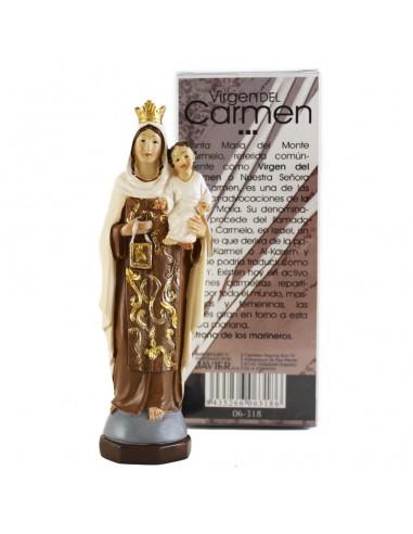 Virgen del Carmen, 13 cm resina.