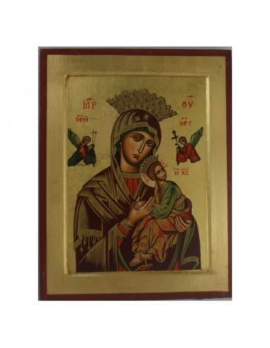 Cuadro con la imagen del Perpetuo Socorro pintado a mano. Dimensiones: 31x24 cm