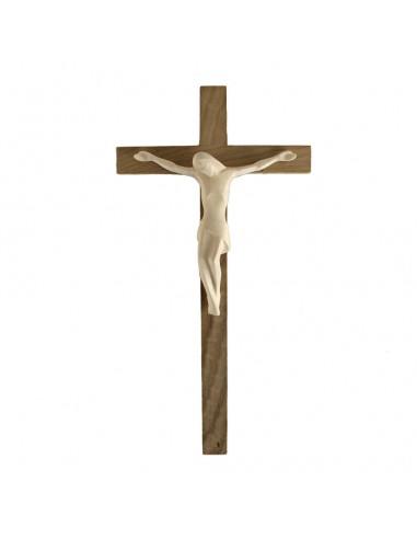 Cristo en talla madera con cruz de roble