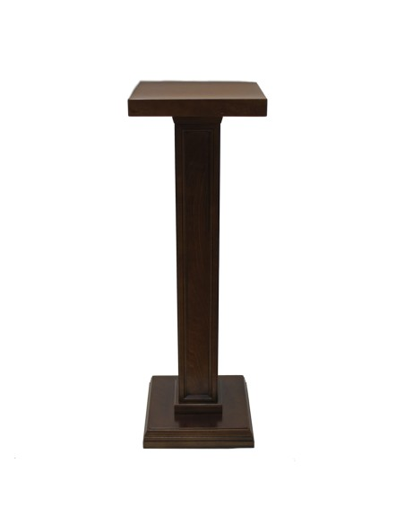 Columna madera.  Alto: 105 cm. Base superior: 34 x 34 cm Base pie: 33 x 33