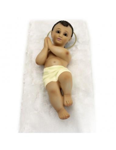 Niño de belén escayola. Medida: 24 cm x 8 cm