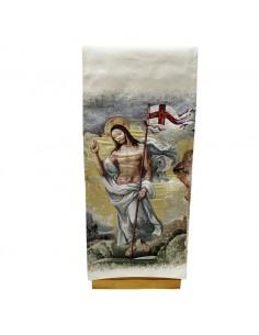 Paño ambon tapiz Resucitado.  Imagen por ambos lados  Medida: 250 cm x 52 cm