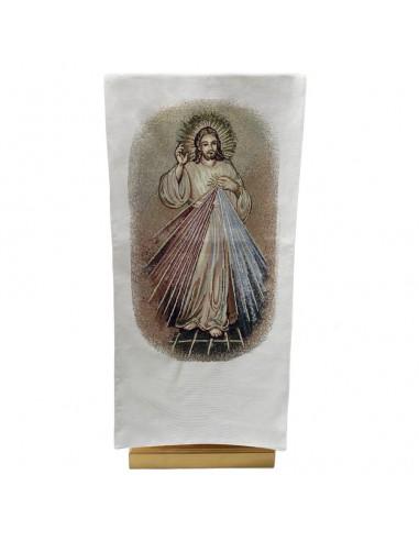 PAÑO AMBON TAPIZ JESUS MISERICORDIOSO Imagen por delante Medidas: 55 x 240