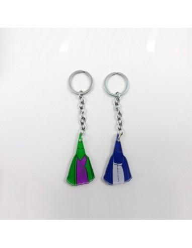 Llavero penitente, disponible en varios colores. Se puede personalizar con los colores.