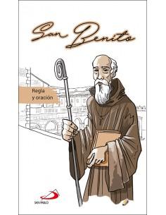 Breve pincelada biográfica y espiritual de San Benito. Incluye una cronología y preguntas para la meditación y reflexión person