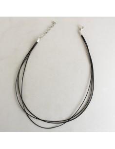 Colgante con enganche  Tres cuerdas: dos negras y una marron