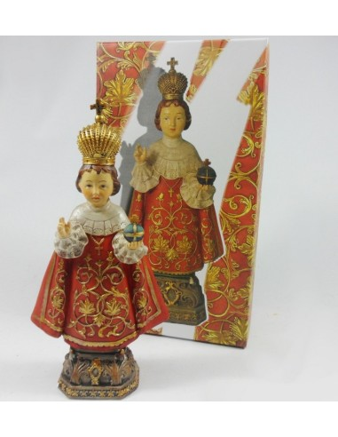 Niño de Praga 30 cm resina.