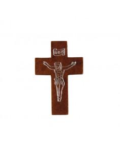 CRUZ MADERA con cordon Color: Marron oscuro Medida cruz: 30 mm