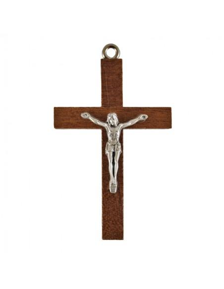 Cruz madera con cristo 6 cm.