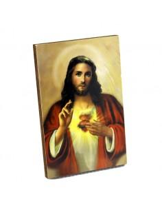 Cuadrito Sagrado Corazon de Jesus de madera