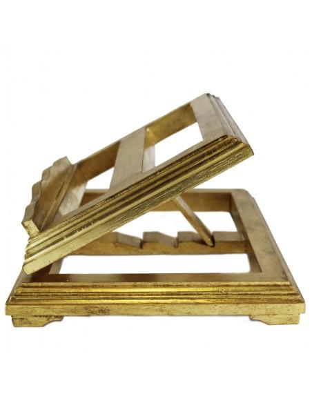 Atril de sobremesa en imitación de pan de oro 3 posiciones distintas