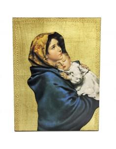 Cuedo virgen Ferruzzi Medida: 27 x 37 cm. Imitacion pan de oro.