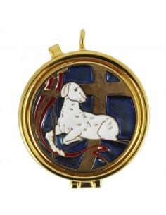 Portaviatico con imagen de cordero esmaltado Medida:  Ø 5.4 cm x 1,5 cm alto