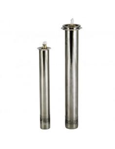 Cartucho simil vela para cera Liquida niquelado  Disponible en dos medidas:  2 cm parte superior x 1.60 cm parte inferior x