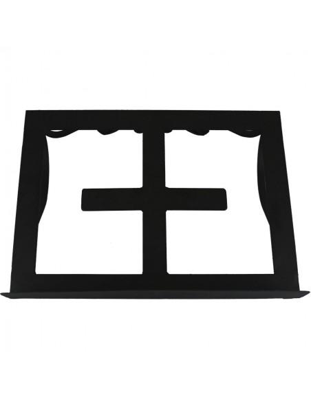 Atril sobremesa forja.  Color negro Dimensiones posa libro: 26 cm de altura x 36 cm de ancho