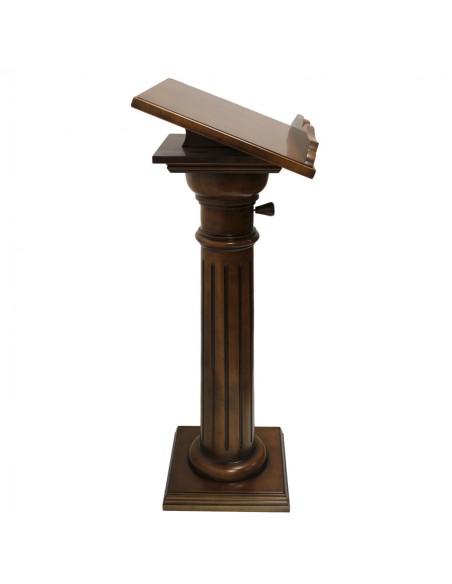 Atril de madera, altura regulable.  Altura: 120 cm Posalibro: 42 x 55 cm